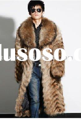 2012 men' fashion fox fur garment/waistcoat/jacket with collar