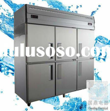 2012 new style 1500L-silver grey-six door -static cooling-double temperature freezer/refrigerator/fr