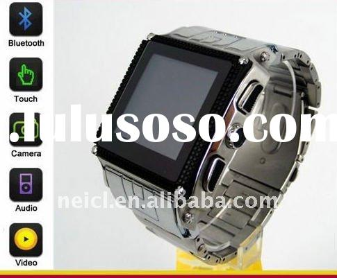 2012 waterproof sport wrist watch phone with bluetooth and touch screen