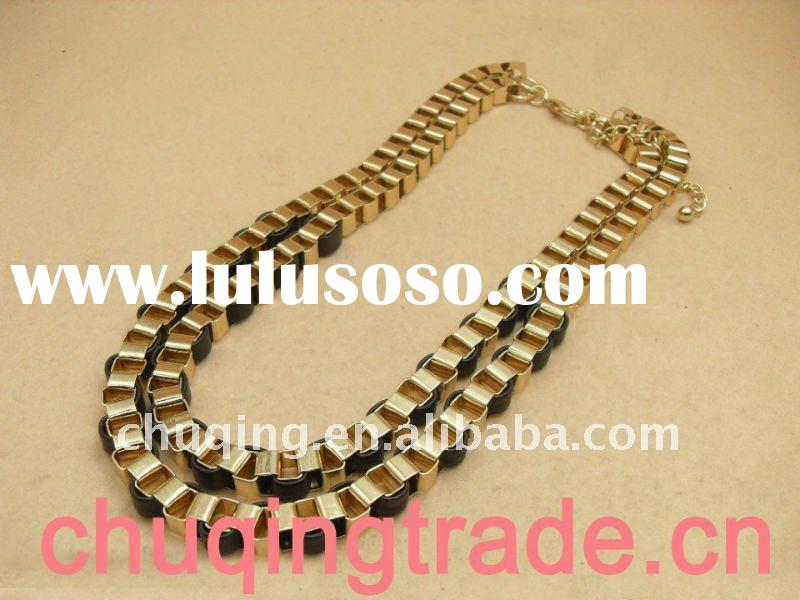 24k gold necklace and leather necklace