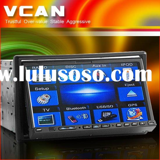 2din 7.0 inch car dvd 16:9 high clear color TFT LCD touch screen with GPS/blutooth/TV/Radio/SD card/