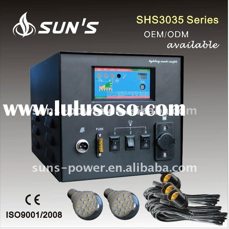 30W Solar Power Box With DC Fans and LED Lights