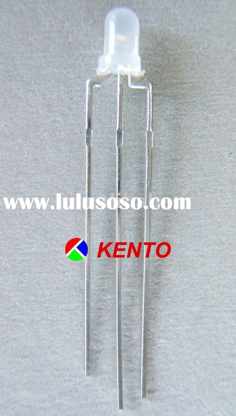 3mm round led diode dichromatic light emitting diode