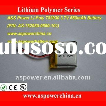 550mAh Li-polymer Rechargeable Battery Packs 782930