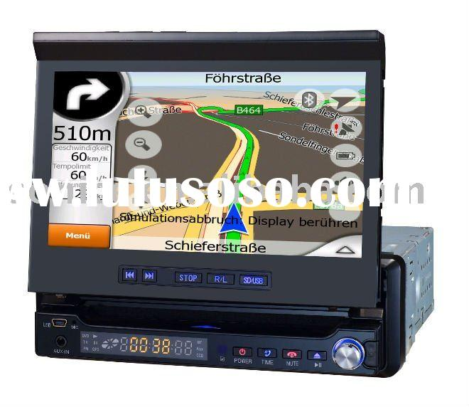 "7"" Single Din In Dash Car TV Monitor with Touch Screen/TV/USB/Bluetooth/SD/FM/AM (SJ-765)"