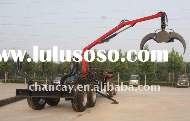 8T Log loader Trailer with hydraulic Crane for tractor or ATV