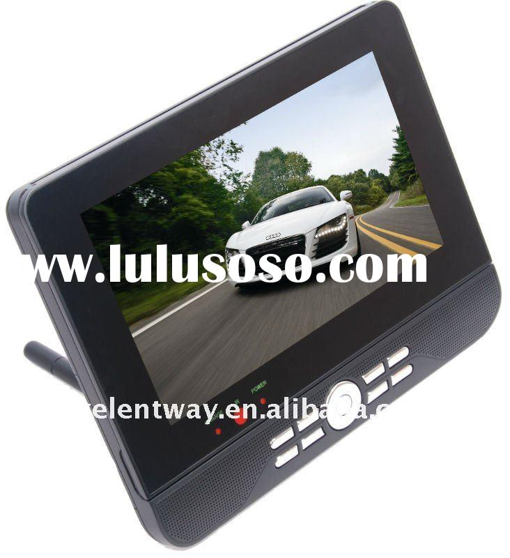 "9"" dual screen portable dvd player with digital panel"
