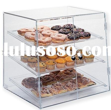 Acrylic Food display bakery case cake break cabinet rack shelves