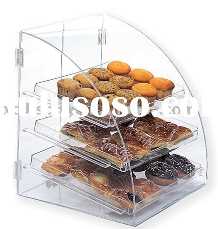 Acrylic Food display bakery case shelves cake rack