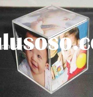 Acrylic Photo Cube,Acrylic Magnetic Picture Frame