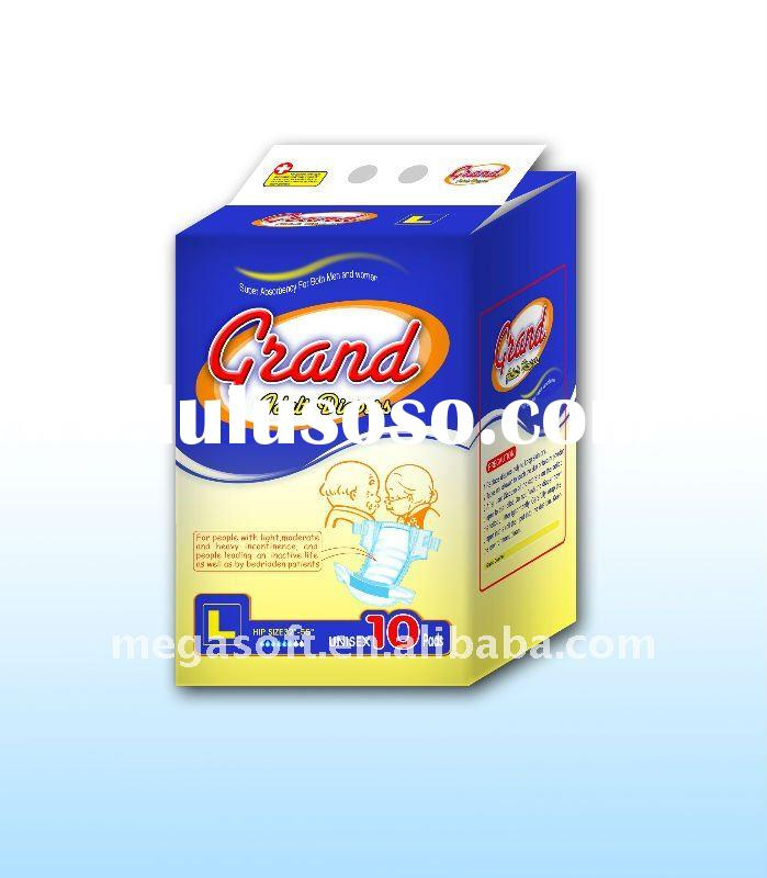 Grand adult diaper 1.Super absorbent core lock the liquid in the absorbent ...
