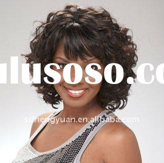 Afro style short synthetic hair wigs with big market in the world