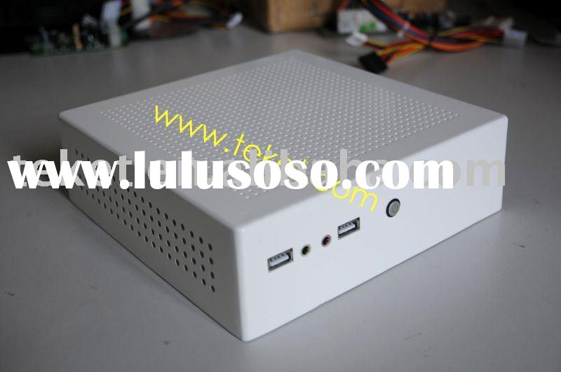 Aluminum Alloy MINI-ITX chassis, Mini PC Case, with fanless DC-to-ATX Power Supply, A03