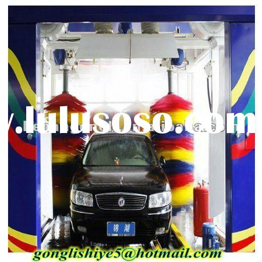 Automatic car wash machine tunnel
