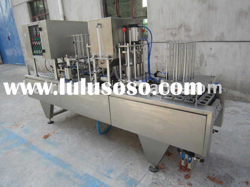 Automatic paper cup filling and sealing machine