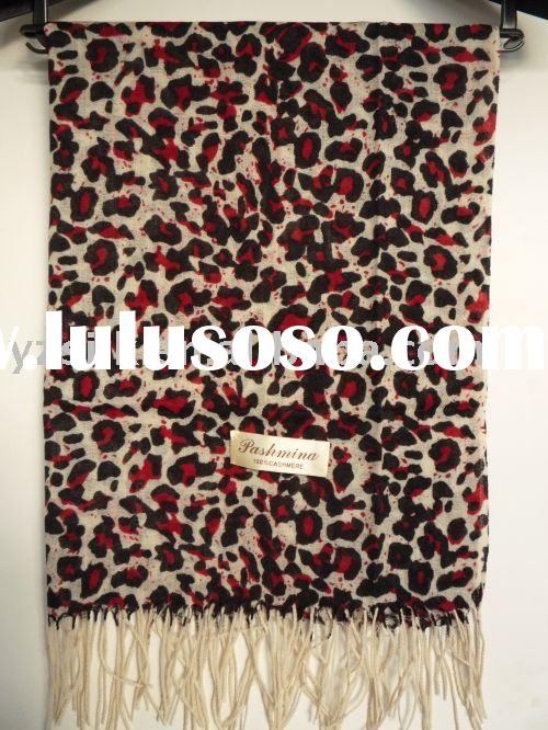 Beautiful pashmina shawls for lady/Leopard grain pashmina scarves/leopard cashmere scarves