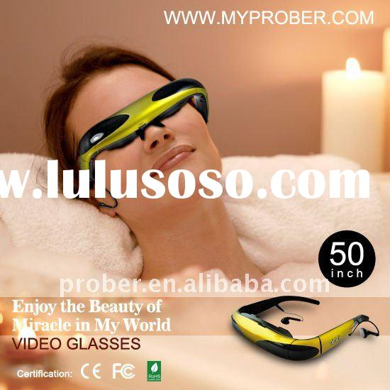 Built-in 2GB with USB interface and AV connection MP4 pmp video glasses Morton