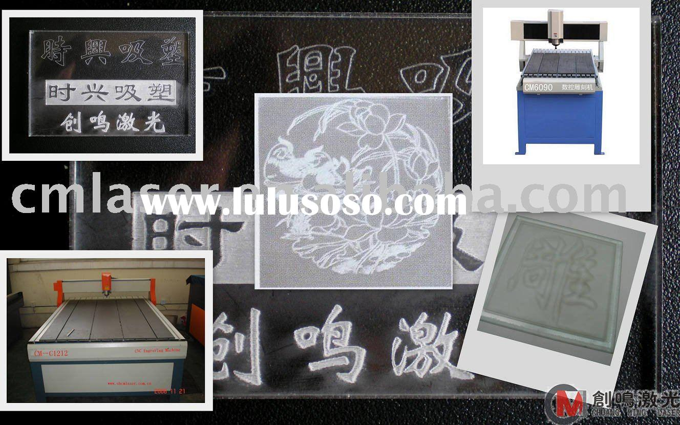 CNC automatic glass engraving machine/glass engraver/scriber/engraver/glass carving/scribing/milling