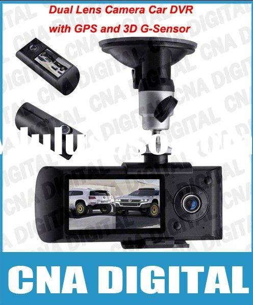 Car Black Box, Car DVR GPS Logger X3000 Dual Lens Camera Video Recorder 140 degree G-Sensor,wholesal