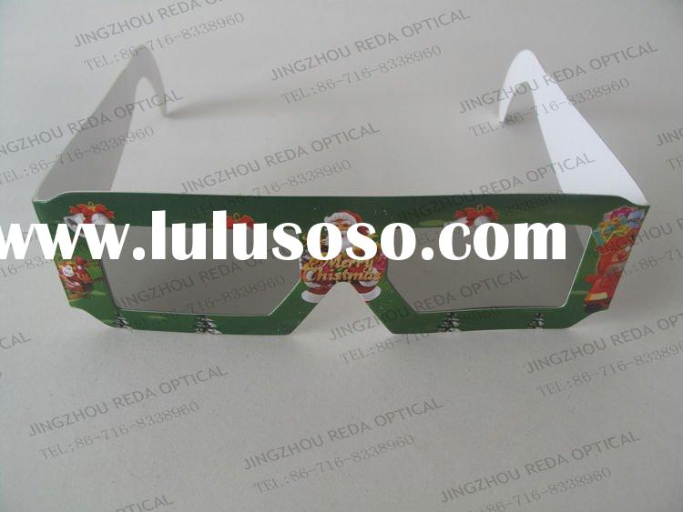 Christmas Linear Polarized Paper Frame 3D Glasses