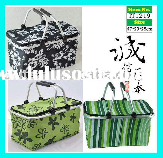 Collapsible Foldable Tote Picnic Hamper Shopping Basket with Cover