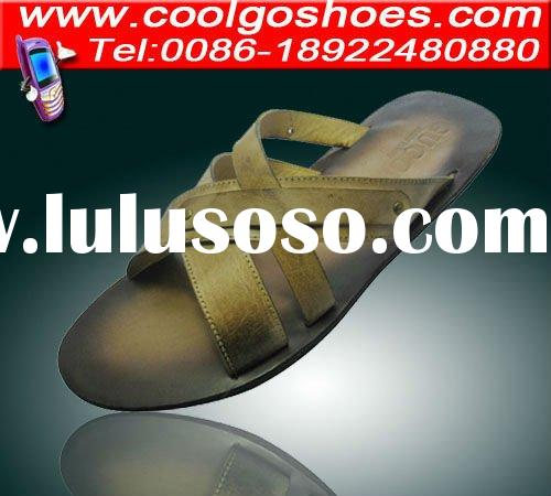 Coolgo 2012 real leather high quality men heated slippers 2012