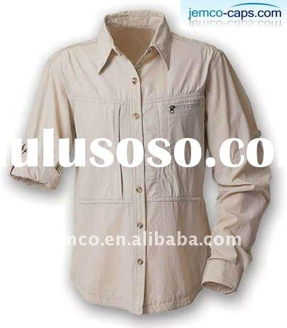 Cotton twill shirt with long sleeve, man's shirt with long sleeve