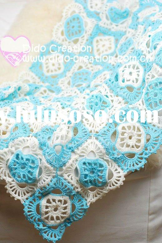 DD1015A Hand Crochet Baby special patch work cotton fabric Soft Blankets Afghan Coverlet Milk Cotton