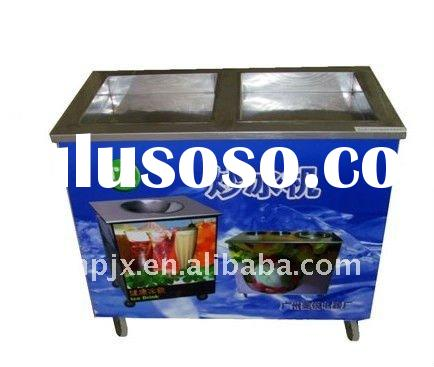 Double square pan ice fried machine