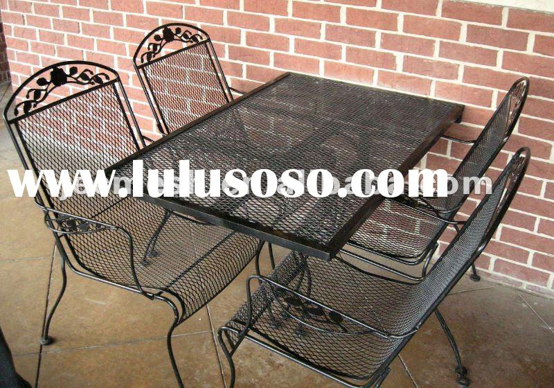 Expanded Metal Mesh Outdoor Furniture Coupling Desk Chair