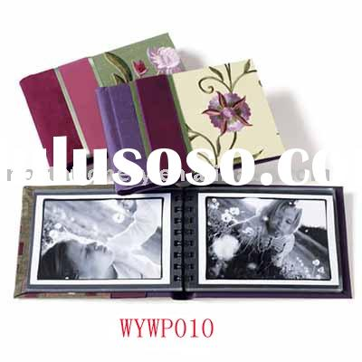 Fabric cover self-adhesive wedding photo album