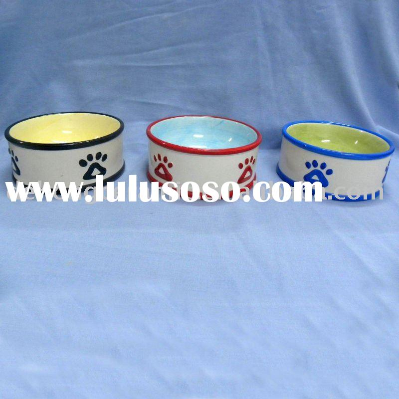 Food safe ceramic pet bowls