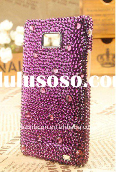 For galaxy s2 i9100 bling rhinestone mobile phone cases