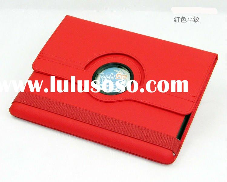 For ipad 2 Rotation Magnetic Smart Leather Case, For Ipad 2 360 degree rotating leather case