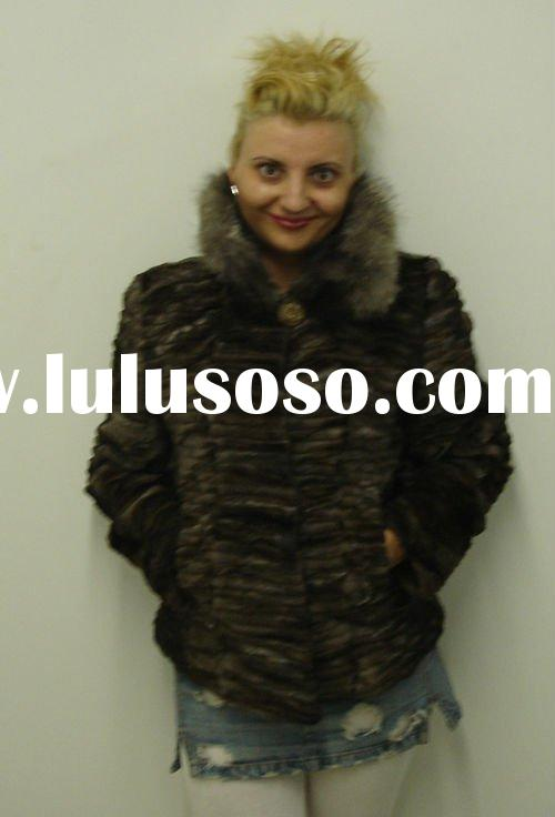 Germany women/lady winter keep warm knitted fur cape/coat 2011 new arrival