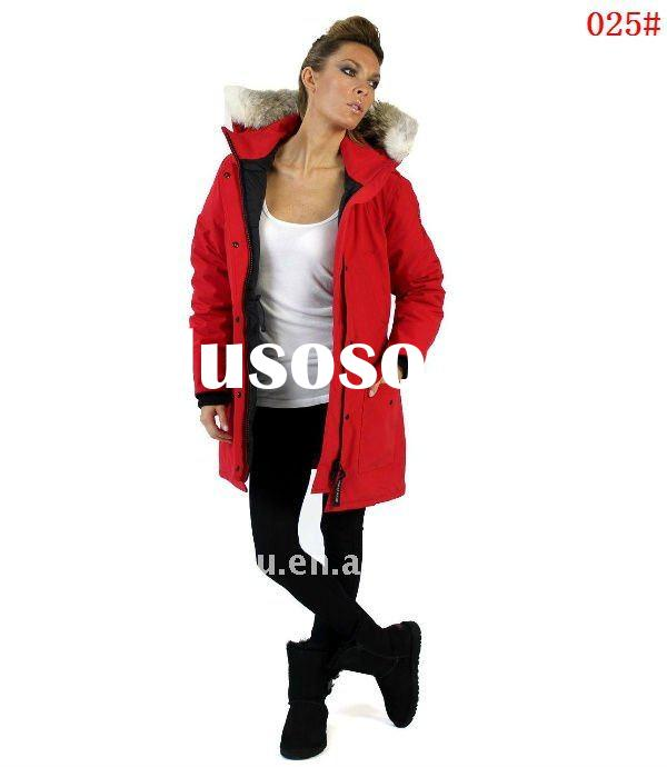 Goose feahter down jacket for women Newest canada style lady's winter wear windproof and kee