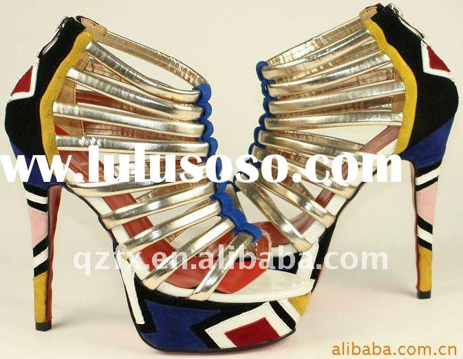 HOT! 2012 Newest high heel ladies sandals spring sandals