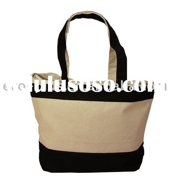 Heavy-duty Canvas Large Zippered Tote Bag