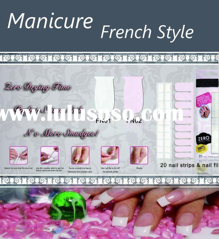 Hotsale 100% Nail Polish/Instant Nail Patch/Nail Polish Strips/French Style Manicure/Beauty Nails