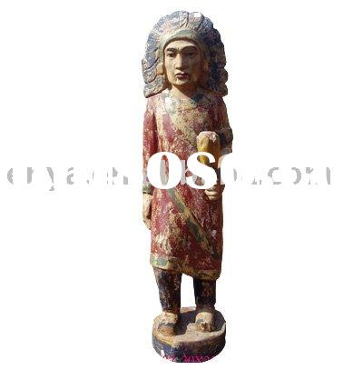 Indiana Statue, Wood sculpture, carved handicrafts