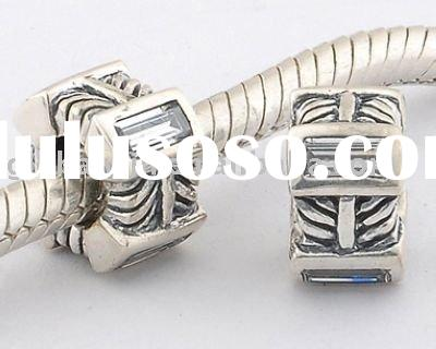 Jewellery Accessory S925 Sterling Silver tractor wheel-shaped beads