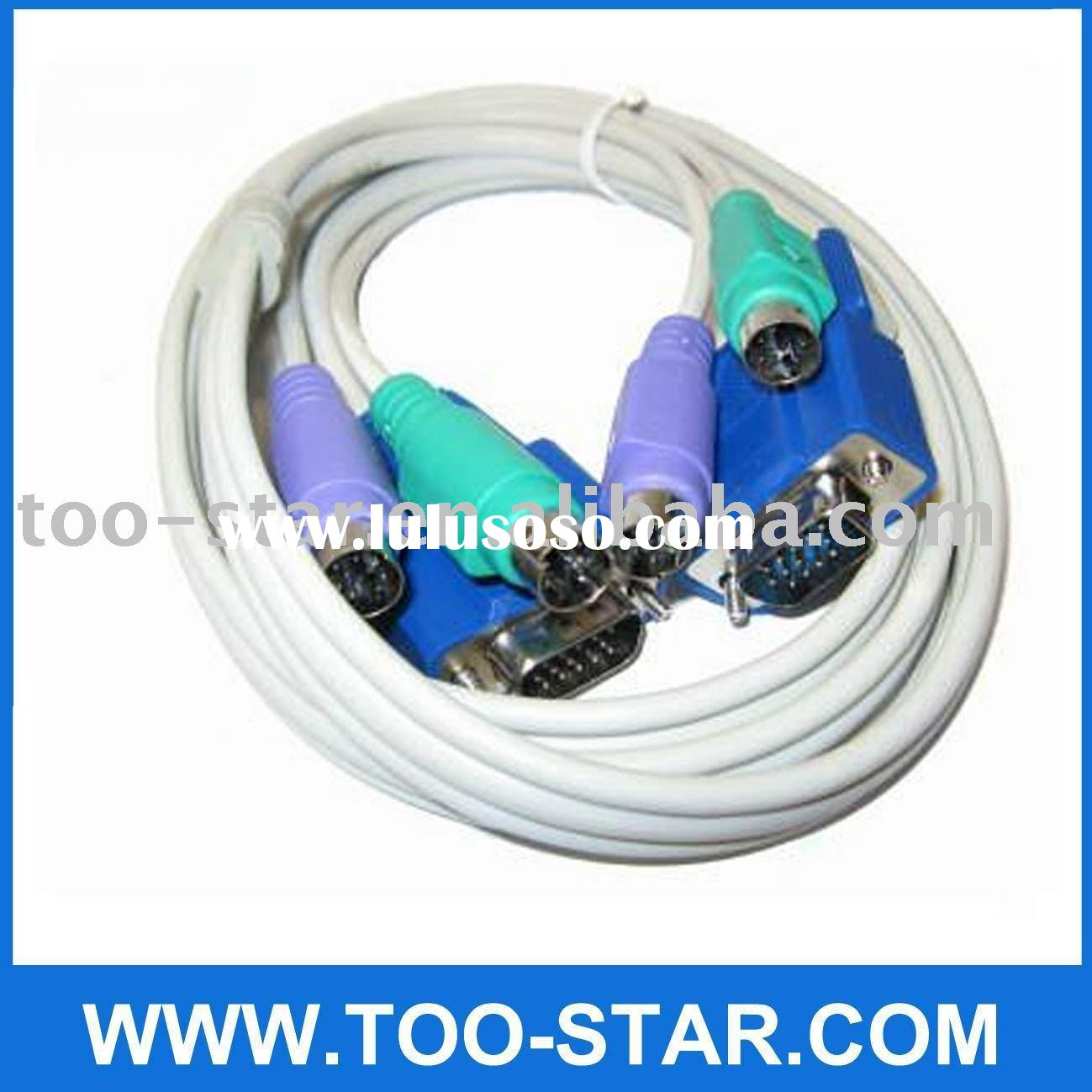 KVM VGA Male to Male PS2 Mouse Keyboard Connect Cable