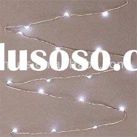 "LED Micro Light Strand-36""silver wire, battery operated,18 cool white LED lights"