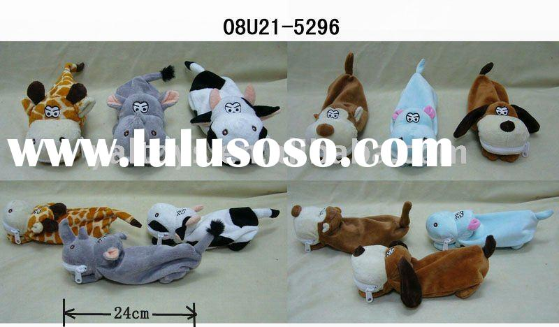 Lovely & 6 Plush Animal Pencil Cases with BIG TOOTH!