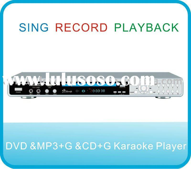 MP3+G /DVD /CD+G Karaoke Player with USB and SD CARD Slot and digital recording