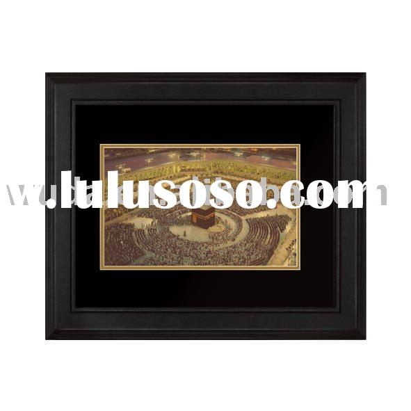 Makkah-24K Gold Foil Engraved Wall Picture