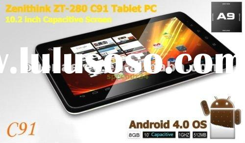 Manufacturer Zenithink zepad ZT280 C91 Android 4.0 tablet pc