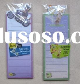 Memo pad with magnet