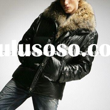 Men's Down Jacket with Fur Collar