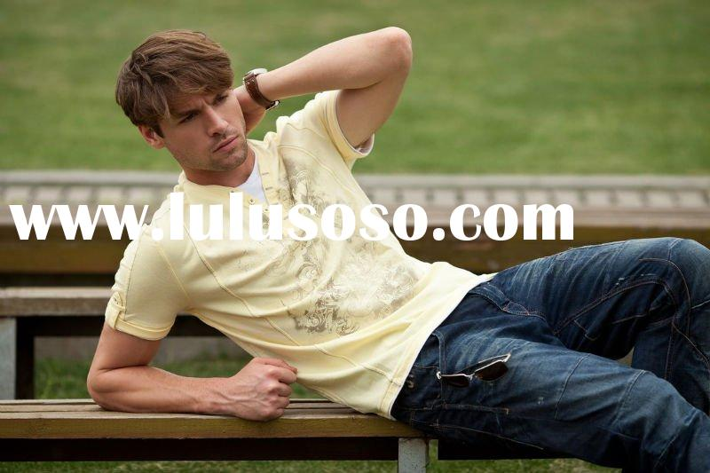 Men's casual plain v neck t-shirt in 2011